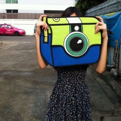 2D Bag Camera (Dark Blue or Light Blue)