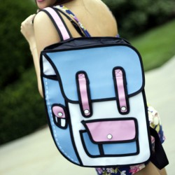2D Backpack Blue/Pink