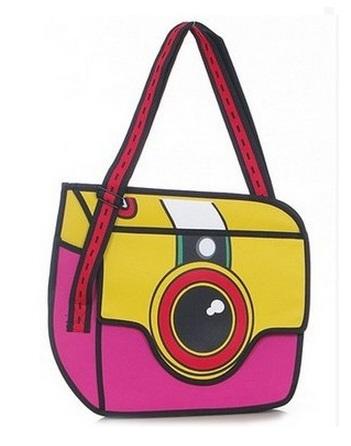 2D Camera Bag Rose Red