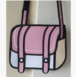 Pink 2D Bags Shoulder Bag