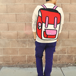 Red 2D Backpack