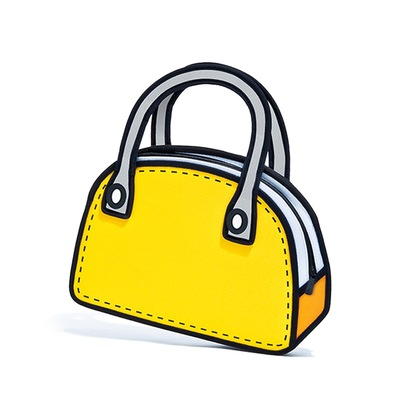 NEW 2D Bag Purse (Red or Yellow)