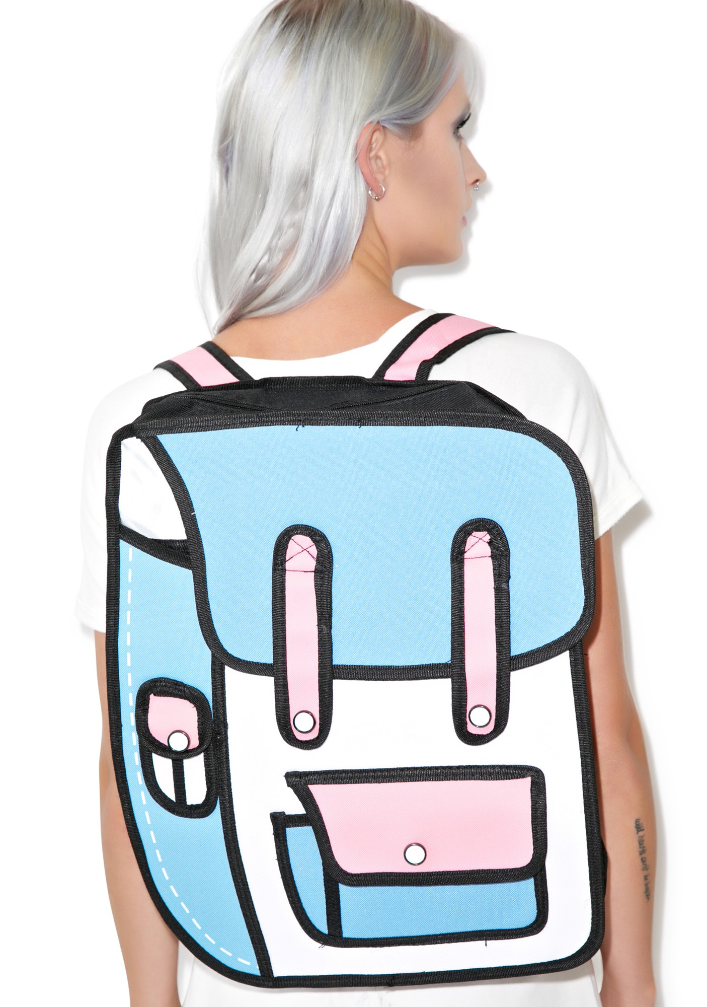 2d Backpack Blue Pink Bags