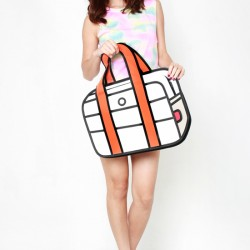 2D Bag Cream Travel Bag