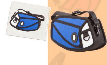 2D mini satchel bluen
