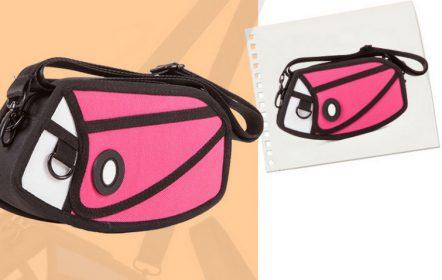 2D Mini Purse Satchel Pink