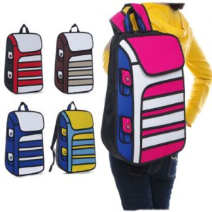 2D Backpacks – Stripes (5 Colors)