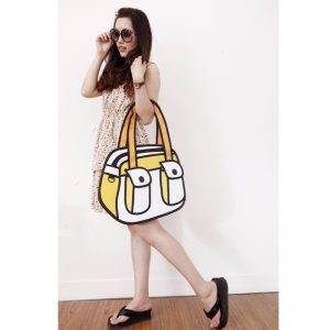 2D Bag Dual Pocket Purse (Yellow or Blue)