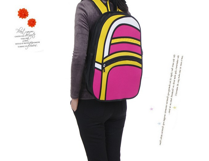 958b96321774 2D Backpack – Rounded Style (4 Colors)