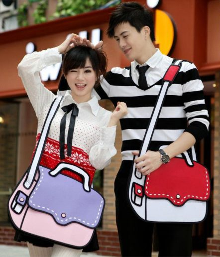 2d bags dashing couple