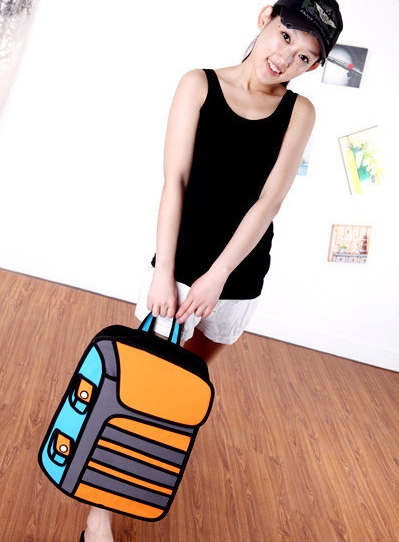 Orange 2D Backpack Front