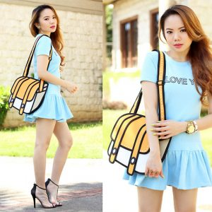2D Bag Shoulder Bag Dual Strap (6 Colors)