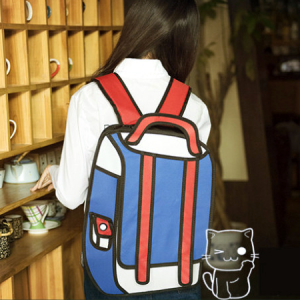 Red & Blue 2D Backpack