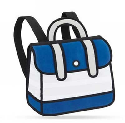 2d bags on the town blue