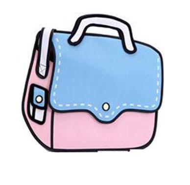 dashing shoulder bag blue pink