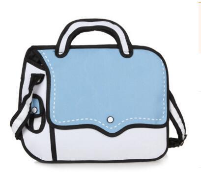 dashing shoulder bag blue white