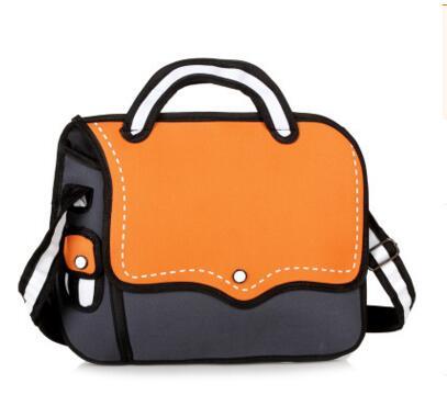 dashing shoulder bag-orange gray