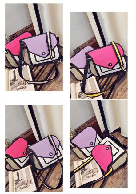 2d bags combo modern-purse flat