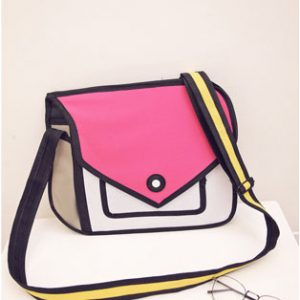 2D Bags Rose Red Modern Purse