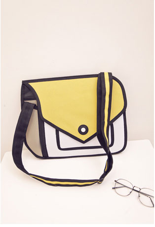 Yellow 2D Bags Modern Purse