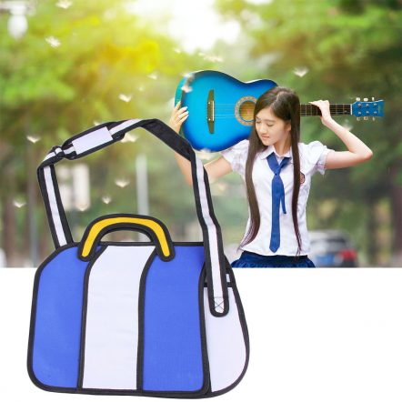 Blue and White 2D BAGS