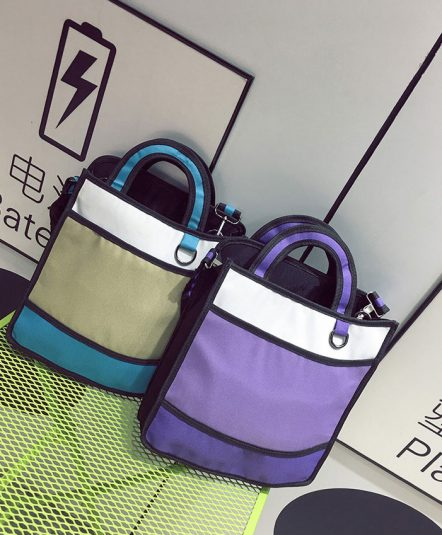 2dbags tote aqua blue purple