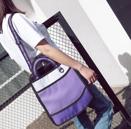 2dbags tote purple shoulder strap