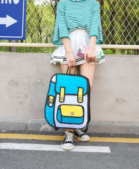 Blue Yellow Backpack