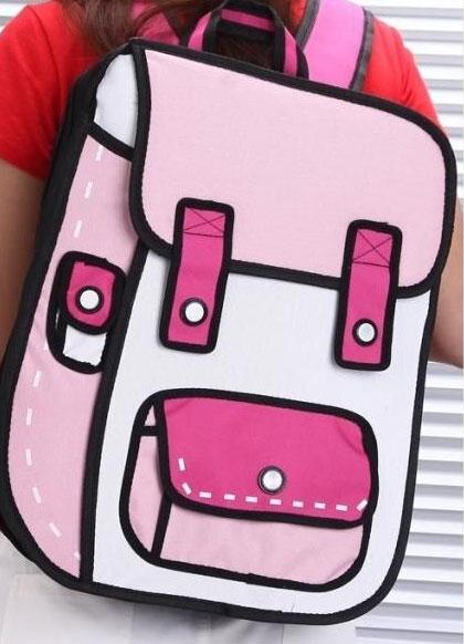 Pink Mini Cartoon Backpack